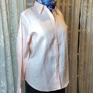 Soft Pink Ralph Lauren linen blouse